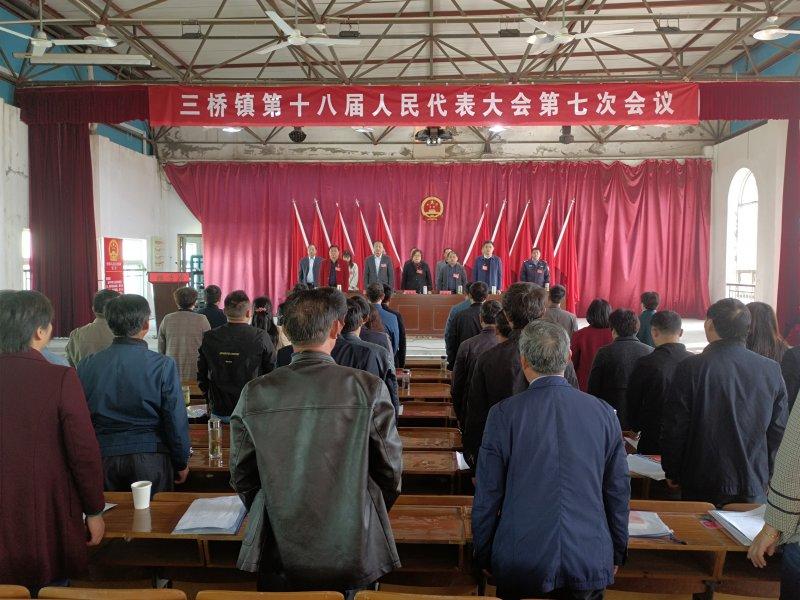三桥镇第十八届人民代表第七次会议胜利